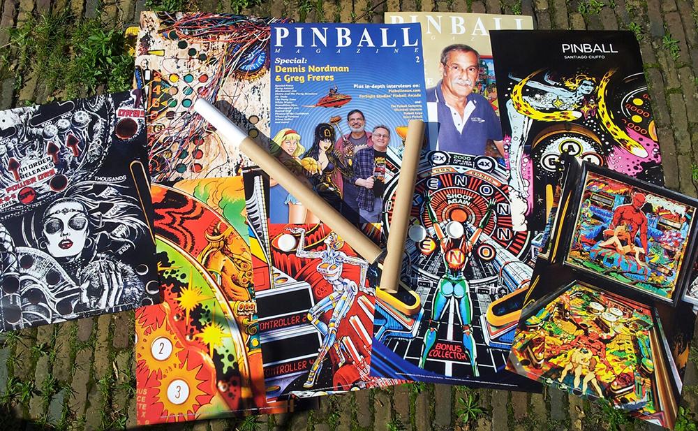 Pinball posters by Santiago Ciuffo