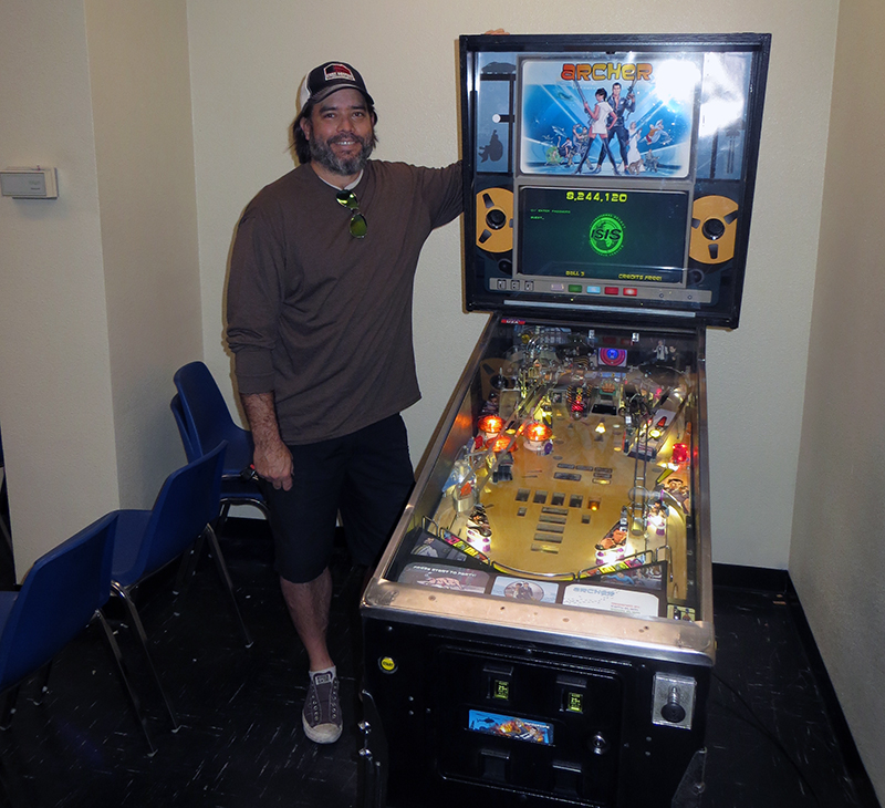 Keith Elwin and his Archer Pinball game