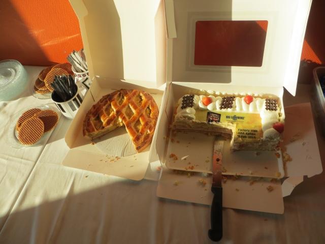 Dutch stroopwafels, apple pie and a Lebowski cake