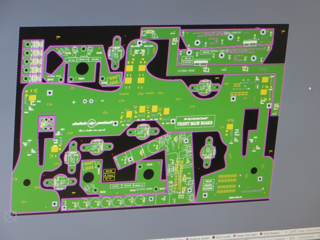 The sheet layout with all the smaller PCBs