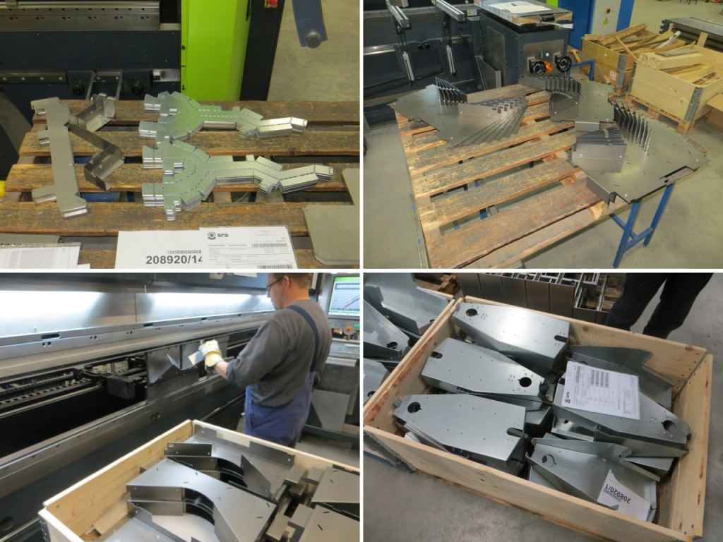 in-house lasercut and bend steel plates
