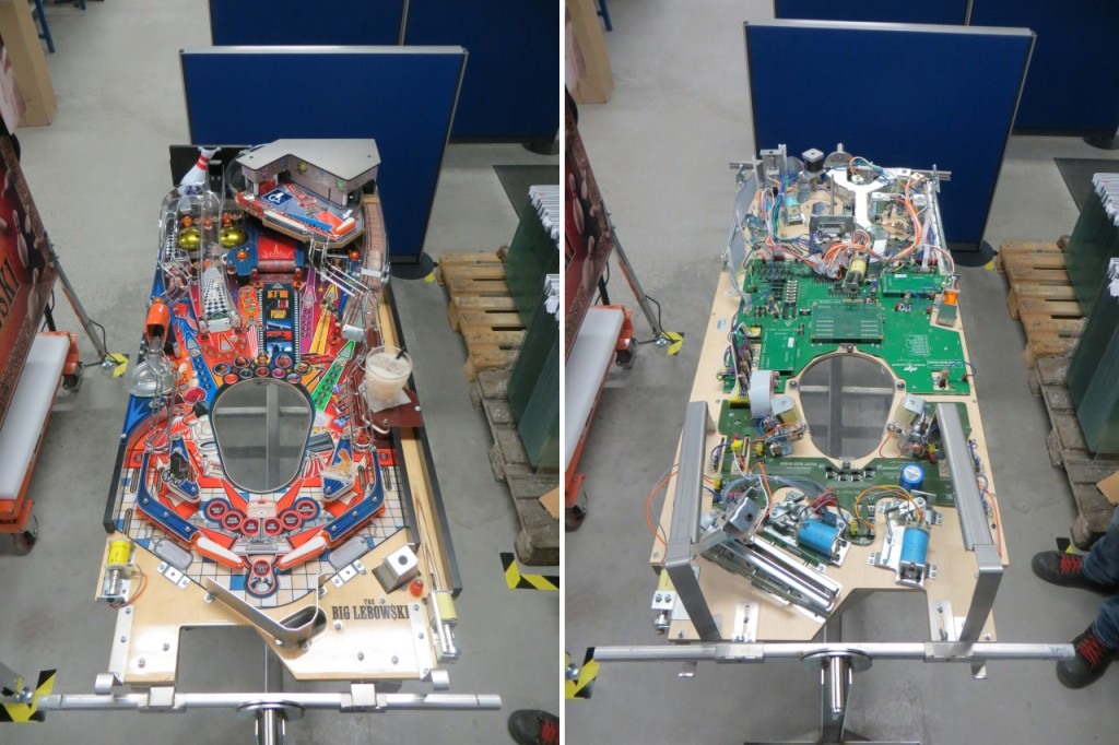 An almost completed playfield at the end of the line