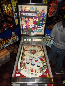 Reverse Flush, where the playfield is mounted backwards and the lowest score wins